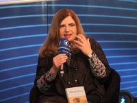 Bild von Sibylle Lewitscharoff auf der Frankfurter Buchmesse 2011