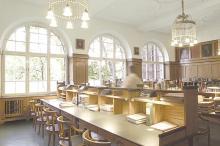 Refugium emeritorum: Lesesaal der Professoren in der Universitätsbibliothek Erlangen