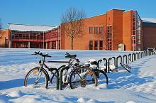 Zentralbibliothek Bayreuth im Winter